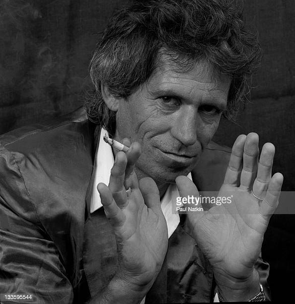Portrait of British musician Keith Richards, New York, New York, September 22, 1987.