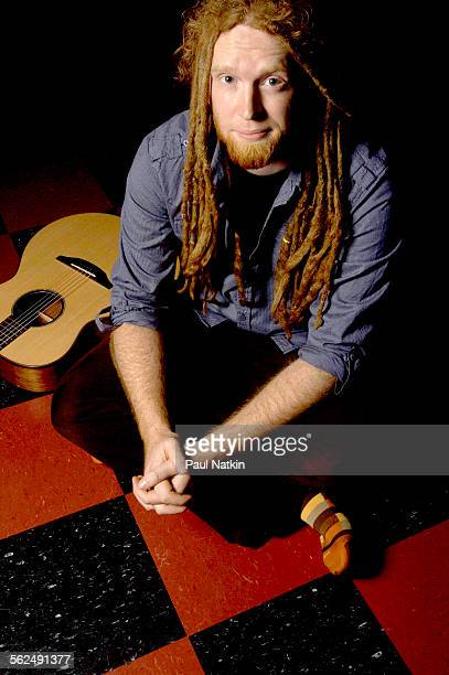 Portrait of British musician Newton Faulkner as he poses at the Hideout nightclub Chicago Illinois January 17 2008