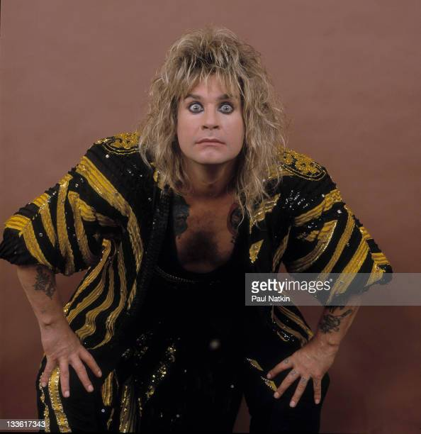 Portrait of British musician Ozzy Osbourne before a performance at the Poplar Creek Music Theater in Hoffman Estates Chicago Illinois July 13 1986