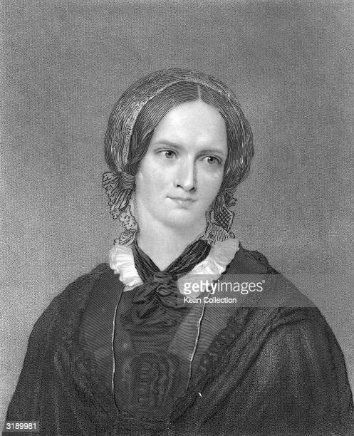 Portrait of British novelist and poet Charlotte Bront 1840s