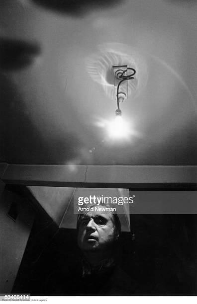 Portrait of British painter Francis Bacon, April 26, 1975, in London, England.