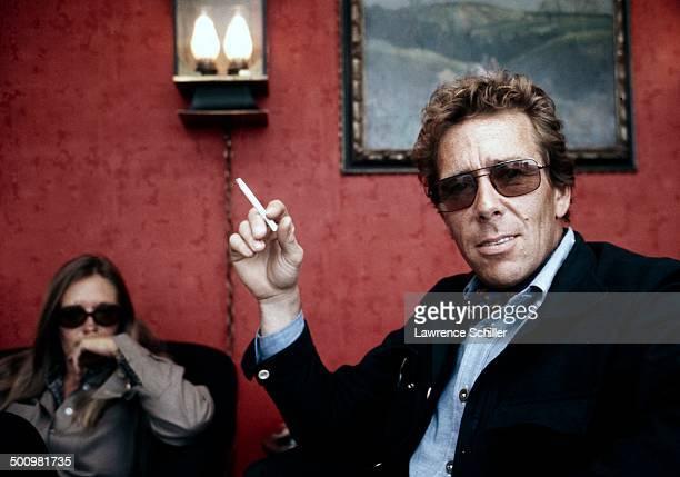 Portrait of British photographer Antony ArmstrongJones 1st Earl of Snowdon a cigarette in his hand 1974