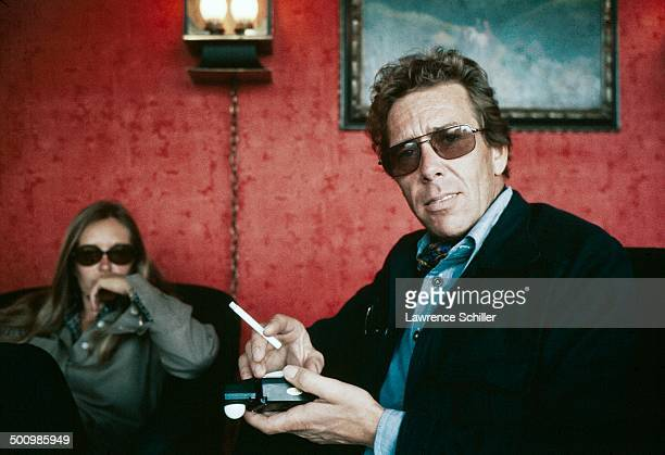 Portrait of British photographer Antony ArmstrongJones 1st Earl of Snowdon a cigarette in his hand 1974
