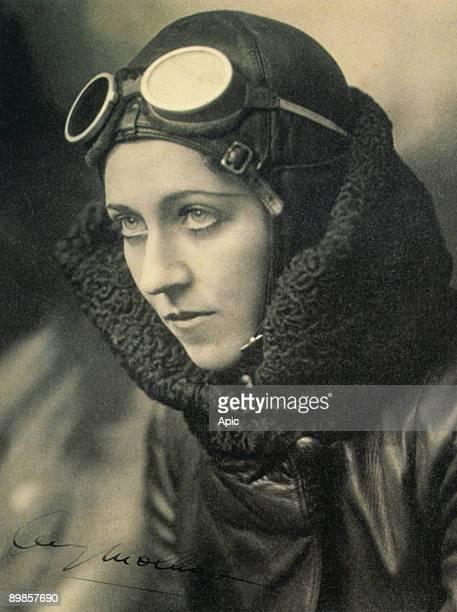 Portrait of British pilot Amy Johnson by John Capstack