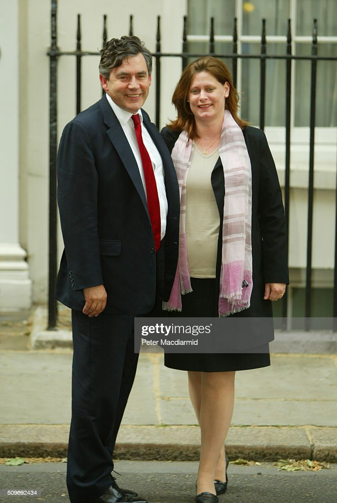 The Browns At 1 Downing Street : News Photo
