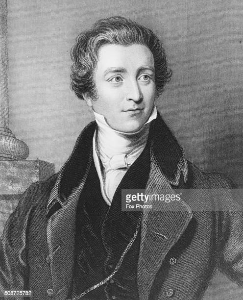 Portrait of British Prime Minister Sir Robert Peel circa 1845