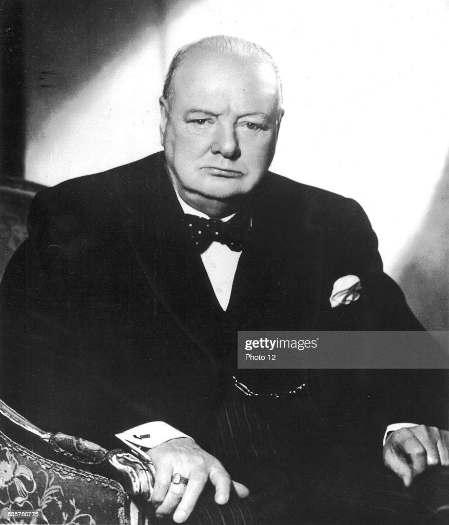 British Prime minister Winston Churchill (1952) : Fotografía de noticias