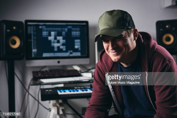 Portrait of British producer and DJ Joshua Harvey better known by his recording name Herve photographed at his home studio in London on September 12...