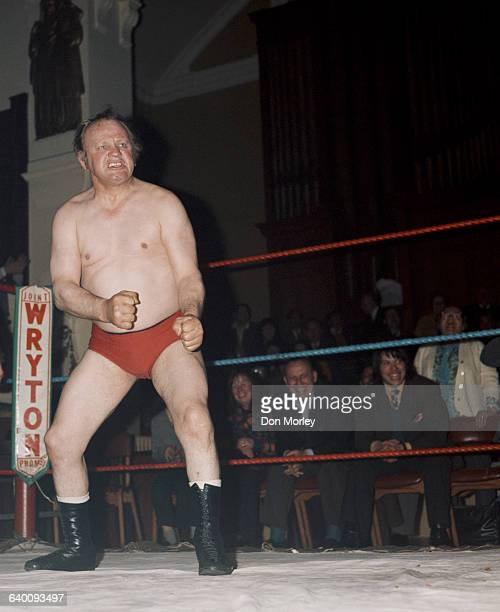 Portrait of British professional wrestler Les Kellett on 1 May1970 at the Wryton Stadium in Bolton United Kingdom Photo by Don Morley/Getty Images