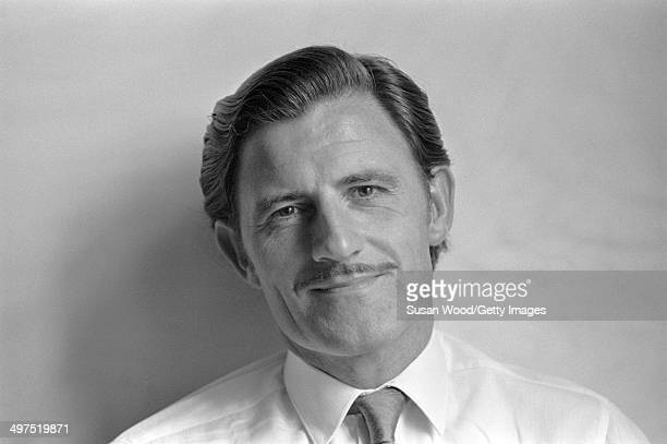 Portrait Of British racecar driver and team owner Graham Hill , England, January 1970.