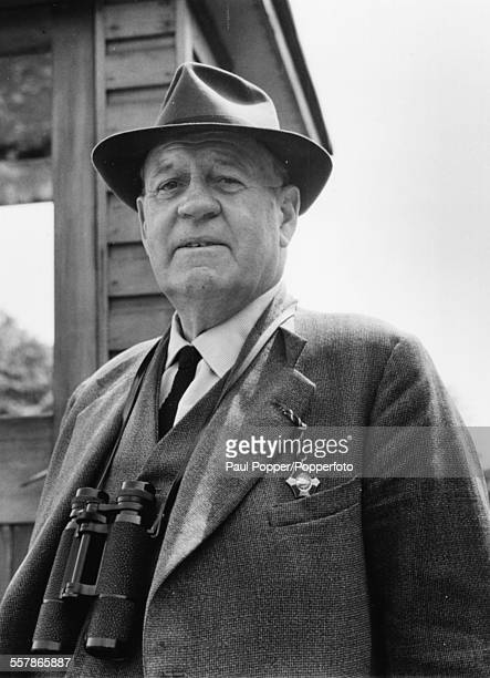 Portrait of British racehorse trainer Jack Jarvis at Lingfield Park racecourse in Surrey May 25th 1964