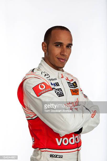 A portrait of British racing driver Lewis Hamilton Hamilton began his career racing gokarts on tracks near his home in Stevenage Hertfordshire Aged...