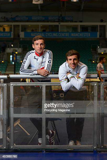 Portrait of British road and track racing cyclists Adam and Simon Yates, photographed at the National Cycling Centre in Manchester, on October 26,...
