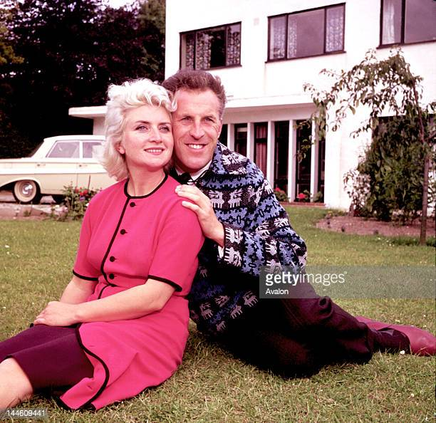 Portrait of British showman and entertainer Bruce Forsyth with former wife Penny photographed in the mid 1960's Job 39050 Ref KCN Exclusive