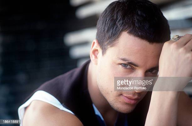 Portrait of British singer and model Nick Camen 1990s