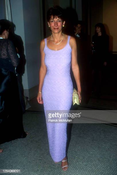 Portrait of British socialite Ghislaine Maxwell as she attends an unspecified event, New York, New York, June 25, 1998.
