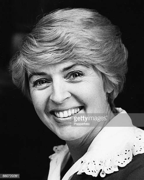 Portrait of British television presenter Gloria Hunniford circa 1975