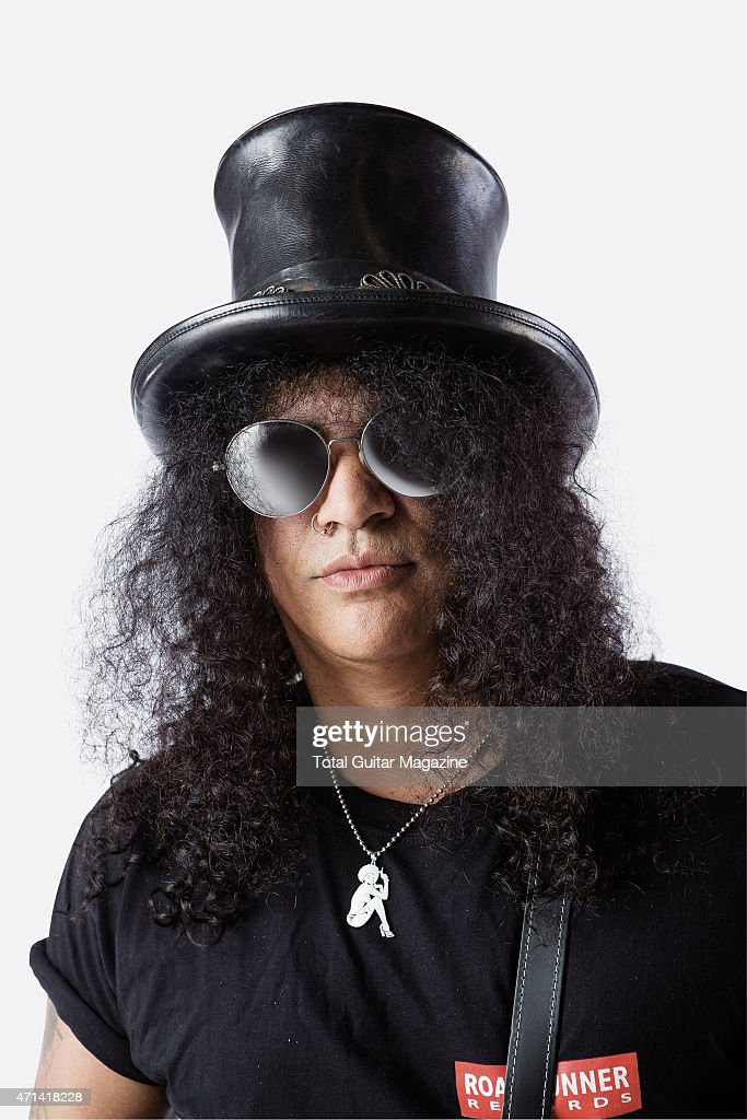 Portrait of British-American musician Saul Hudson, better known by his stage name Slash, photographed in London on June 2, 2014.