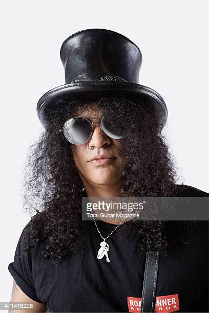 Portrait of BritishAmerican musician Saul Hudson better known by his stage name Slash photographed in London on June 2 2014