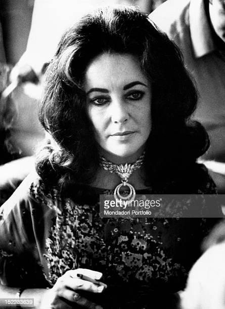 Portrait of Britishborn American actress Liz Taylor Taormina 1970s