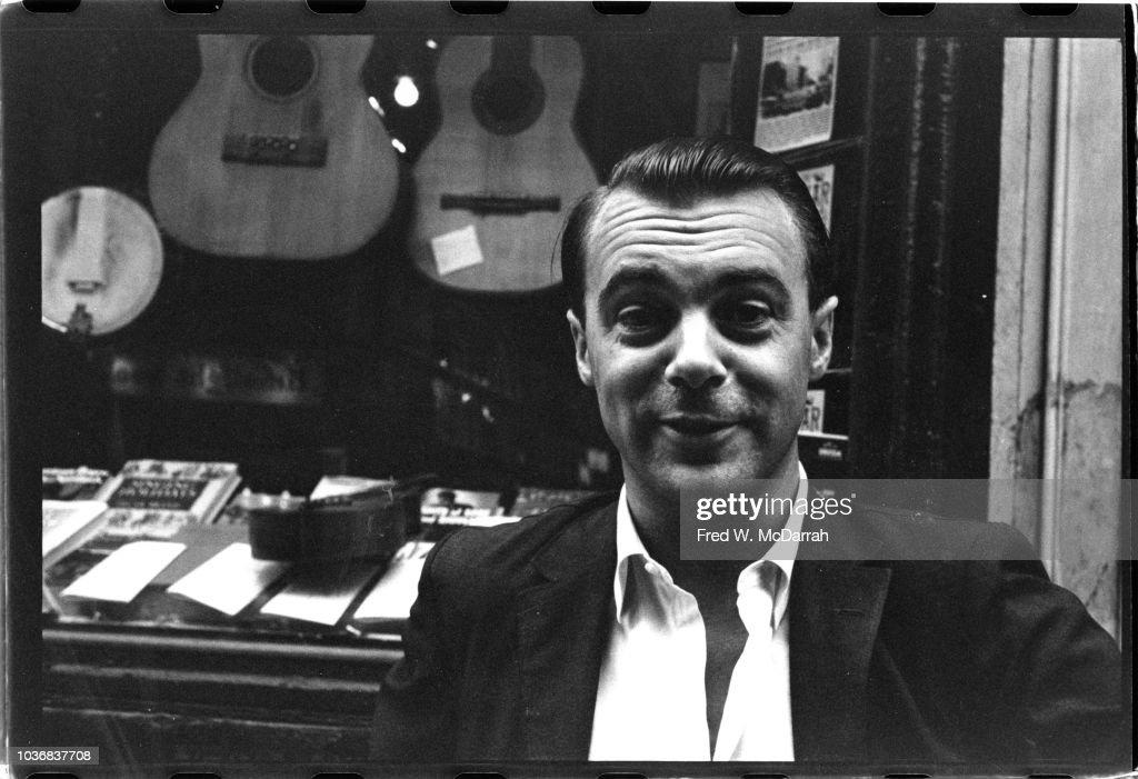 Portrait Of John Wilcock On MacDougal Street : News Photo