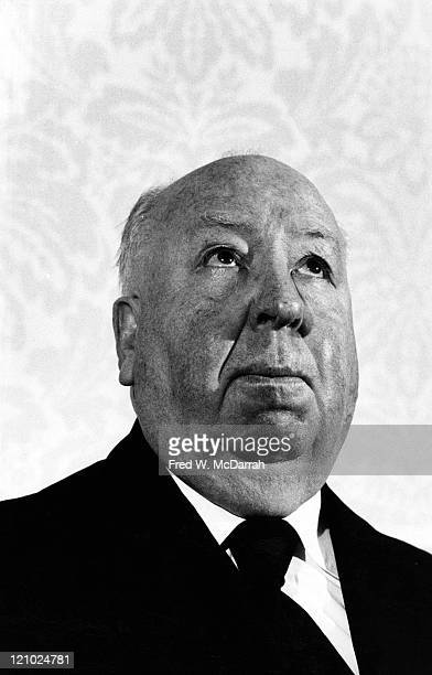 Portrait of Britshborn American film director Alfred Hitchcock at the press conference for a tribute in his honor held at Lincoln Center New York New...
