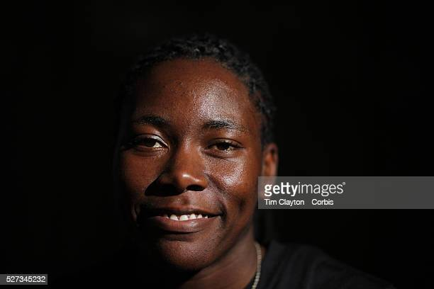 A portrait of Brittney Reese USA long jump 2012 Olympic Gold medalist at the Adidas Grand Prix Press Conference Hyatt Grand Central New York ahead of...