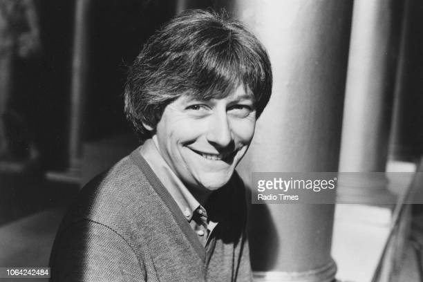Portrait of broadcaster and television anchor Richard Skinner December 10th 1980