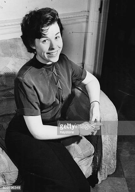 Portrait of broadcaster Sheila McCormack sitting in an armchair following her appointment as the new voice of the 'Woman's Hour' program for the BBC...