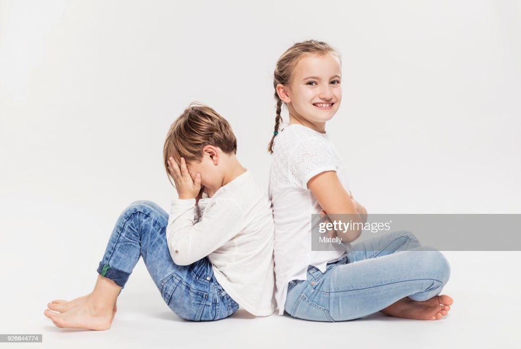 Brother And Sister Portrait High-Res Stock Photo - Getty
