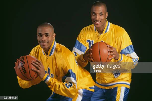 Portrait of brothers Charles O'Bannon Shooting Guard and Ed O'Bannon, Forward for the University of California, Los Angeles UCLA Bruins during the...