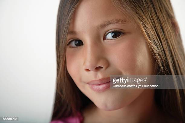 portrait of brown eyed girl - cef do not delete stock pictures, royalty-free photos & images