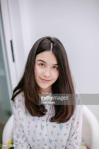 portrait of brunette girl