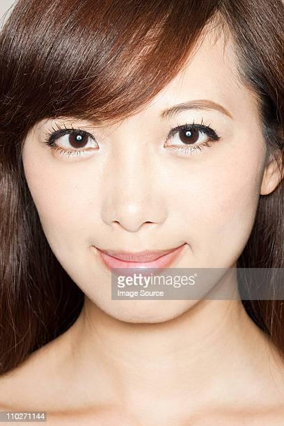 Portrait of brunette woman, studio shot