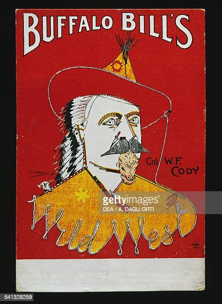 Portrait of Buffalo Bill 19031905 postcard France 20th century