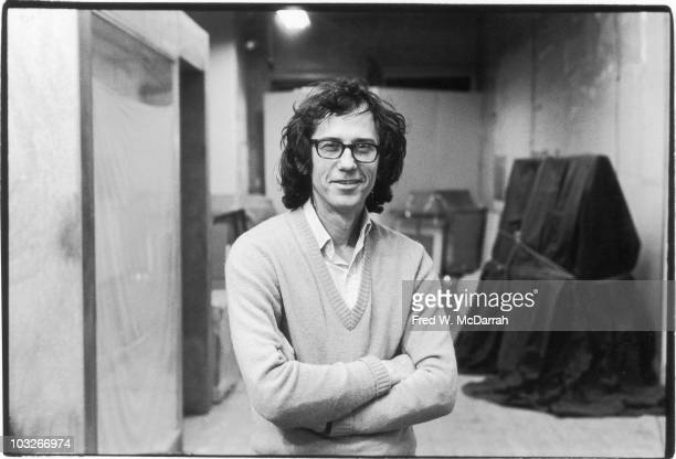 Portrait of Bulgarian-born artist Christo as he poses in his loft apartment , New York, New York, December 29, 1976. He is known for his...