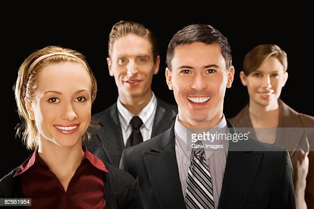 Portrait of business executives smiling