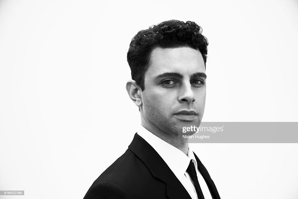 Portrait of business man in suit : Stock Photo