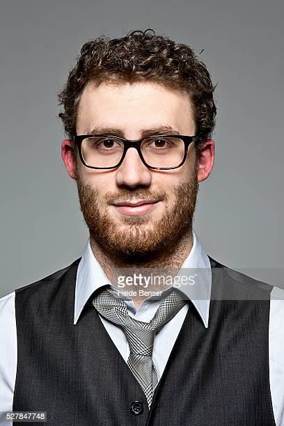 Portrait of business man wearing eye glasses