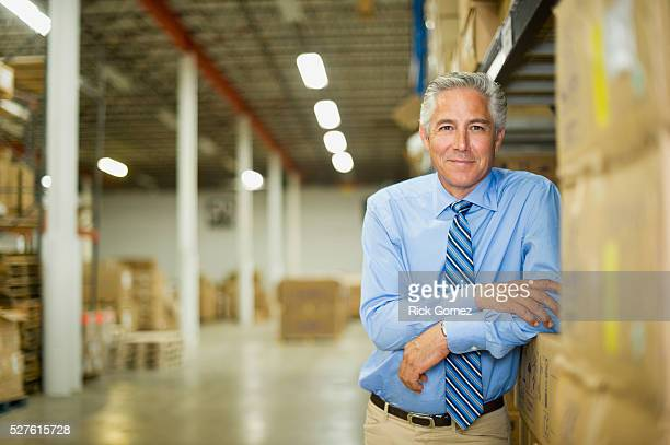 Portrait of business owner in warehouse