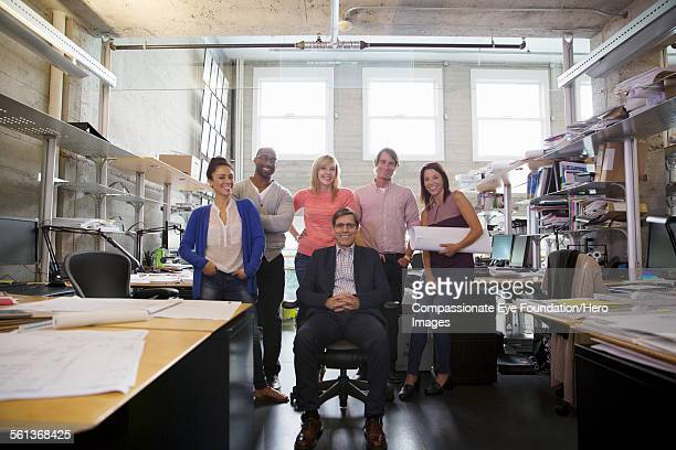 Portrait of business people in modern office