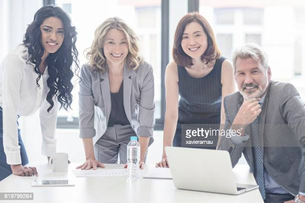 Portrait of business people on a meeting in the office