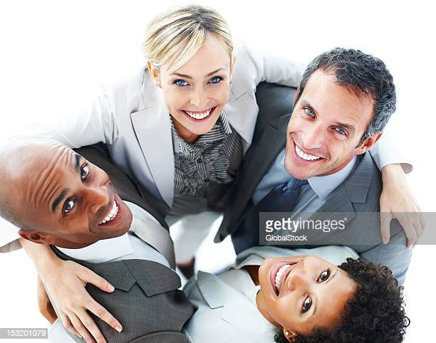Portrait of business people standing together and smiling