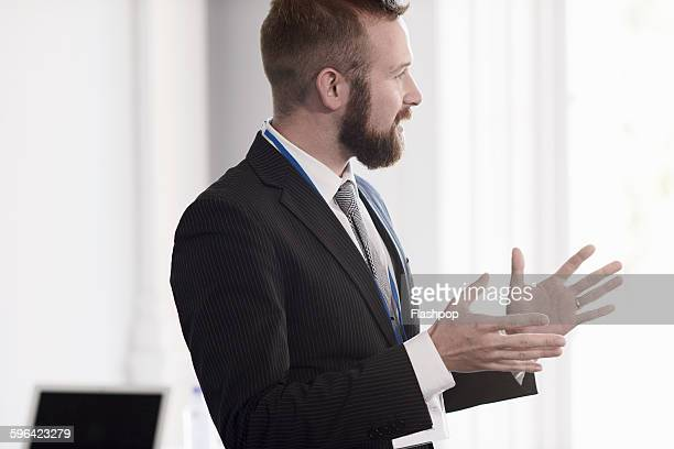 portrait of business person - gesturing stock pictures, royalty-free photos & images