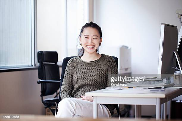 portrait of business woman - ponytail stock pictures, royalty-free photos & images