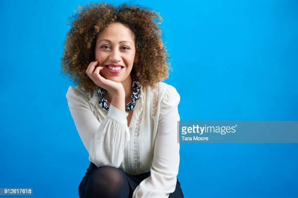 portrait of business woman - colored background stock pictures, royalty-free photos & images