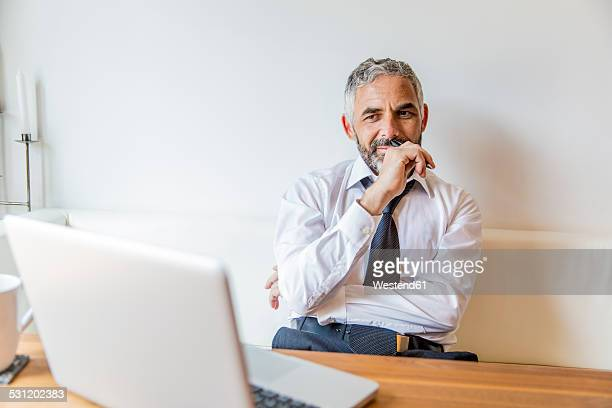 Portrait of businessman at his home office