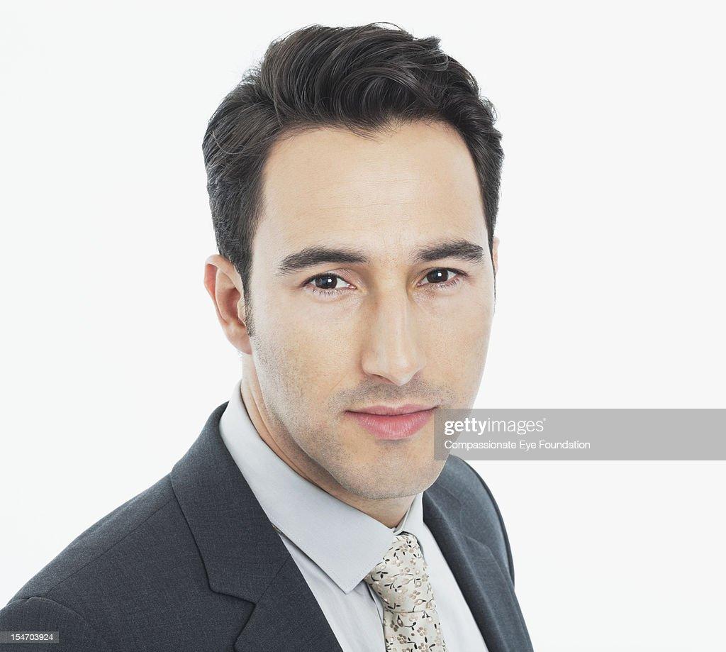 Portrait of businessman, close up : Stock Photo