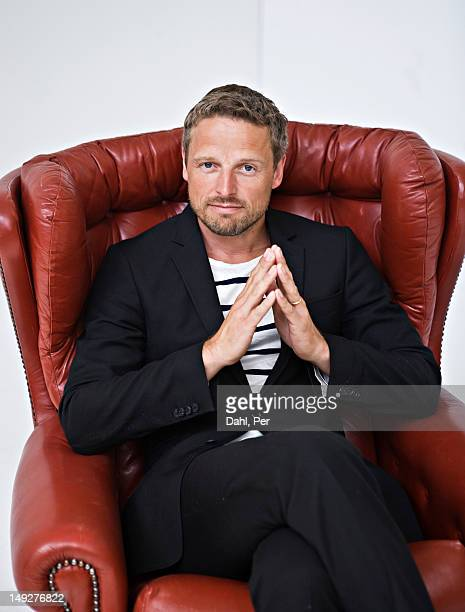 Portrait of businessman in armchair