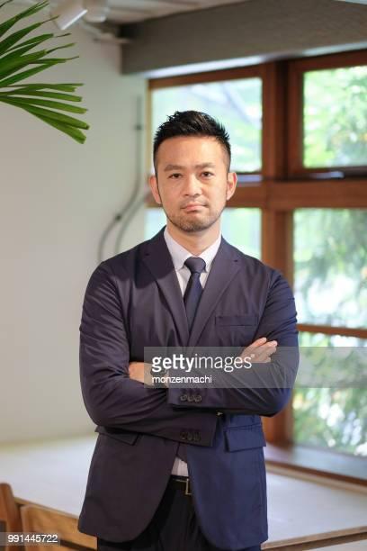 40 代のビジネスマンの肖像画 - ビジネスウェア ストックフォトと画像